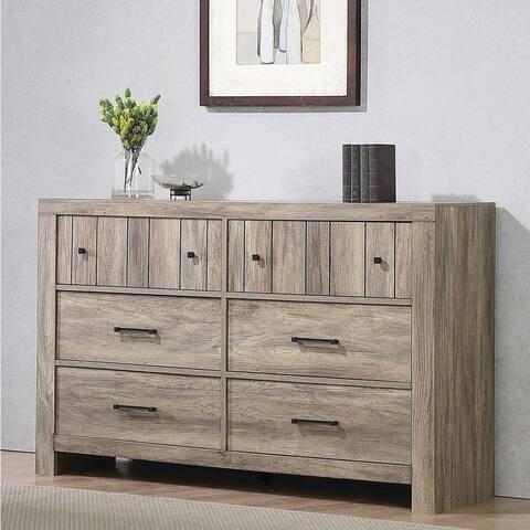 Carbon Loft Wyverna Rustic Oak 6-drawer Dresser