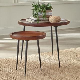 Carson Carrington Vaberget 2-piece Round Nesting Table Set