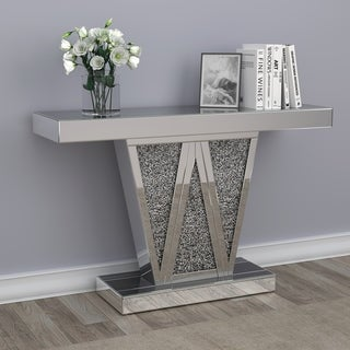 """Silver Orchid Adams Silver Rectangular Console Table - 47"""" x 14"""" x 31.50"""""""