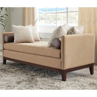 """Link to Copper Grove Piatykhatky Upholstered Amber and Rice Bench (68.5 in.) - 68.50"""" x 29"""" x 26.50"""" Similar Items in Living Room Furniture"""