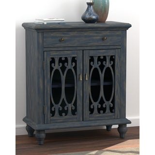 The Curated Nomad Landsend Blue 2-door Accent Cabinet