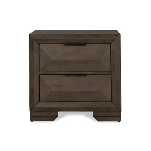 Carter Antique Grey 2-drawer Nightstand