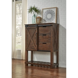 Simply Solid Shelba Solid Wood 3-drawer Barndoor Chest