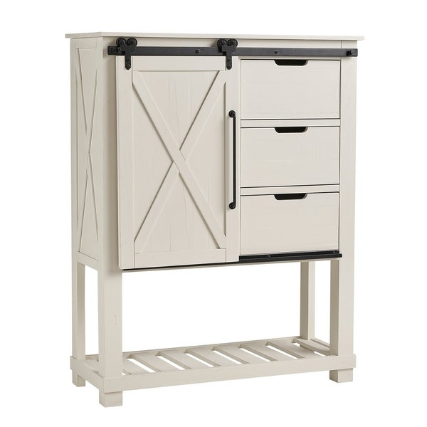 Simply Solid Shanna Solid Wood 3-drawer Barndoor Chest