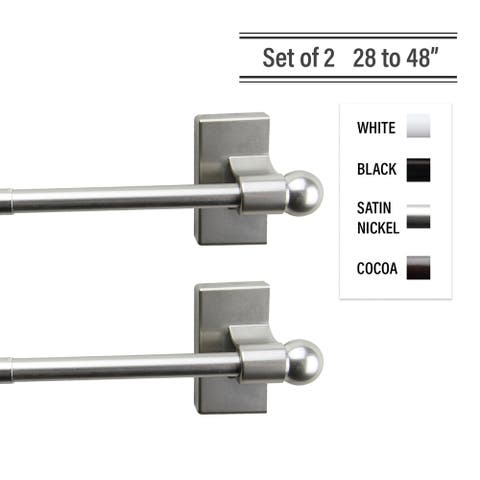 InStyleDesign Magnetic Curtain Rod 28-48 inch ( Set of 2 )