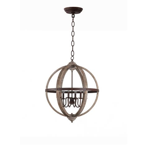 Rustic farmhouse vintage Wood ORB Chandelier pendant Shabby Chic Hanging Foyer ,Home Decor, Dining Room, Bedroom, Living Room