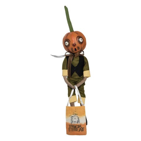 Orvis Pumpkin Head Guy Joe Spencer Gathered Traditions Art Doll