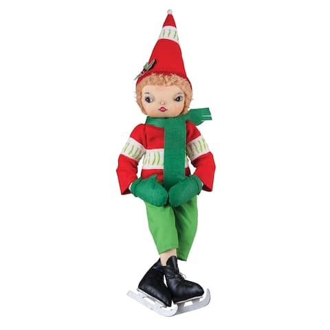 Torrence Ice Skating Boy Joe Spencer Gathered Traditions Art Doll
