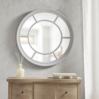 Martha Stewart Trellis Round Accent Mirror