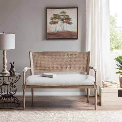 Madison Park Garfield Beige/ Reclaimed Natural Settee