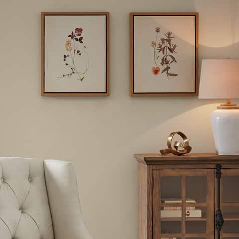 Martha Stewart French Herbarium Framed Linen Canvas 2 Piece Set - Multi