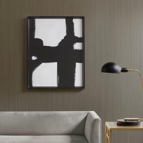 Martha Stewart Directional Ebony Black/White Framed Canvas