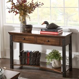 Richter Dark Cherry Finish Sofa Table by iNSPIRE Q Classic
