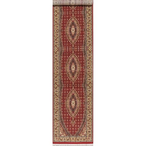 Classic Bidjar Turkish Oriental Polyester & Jute Traditional Rug