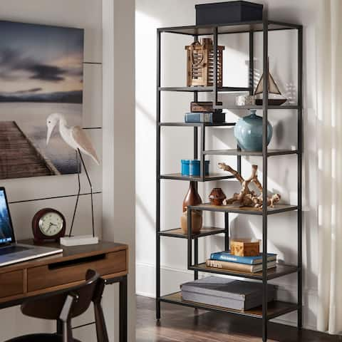 Rogers Cherry Finish 72-inch Bookcase by iNSPIRE Q Classic