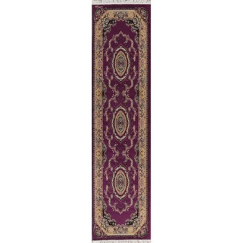 Aubusson Bohemian Traditional Polyester & Jute Turkish Oriental Rug - 13' 0'' X 3' 3''