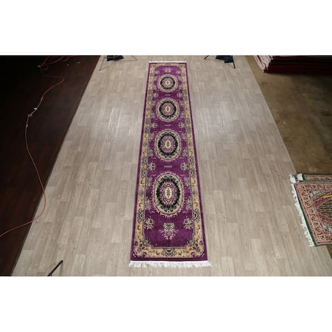 Traditional Aubusson Persian Polyester & Jute Turkish Oriental Rug - 16' 6'' X 3' 3''