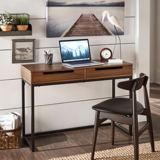 Rogers Cherry Finish 2-Drawer Desk by iNSPIRE Q Classic