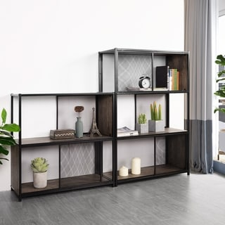 Carbon Loft Sirion Wood Bookcase with Moving doors Storage Cabinet