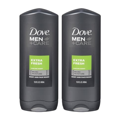 (2 Pack) NEW Dove Men and Care Body and Face Wash Extra Fresh 13.50 Ounces