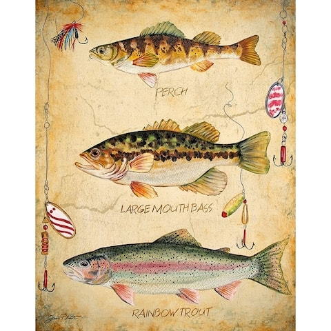 CANVAS Fish Trio by Jean Plout Graphic Art