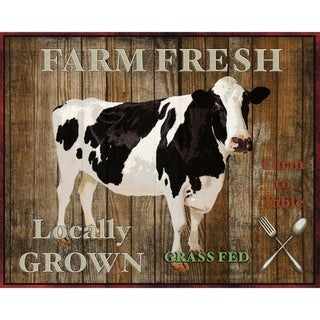 CANVAS Farm Fresh Cow by Jean Plout  Graphic Art