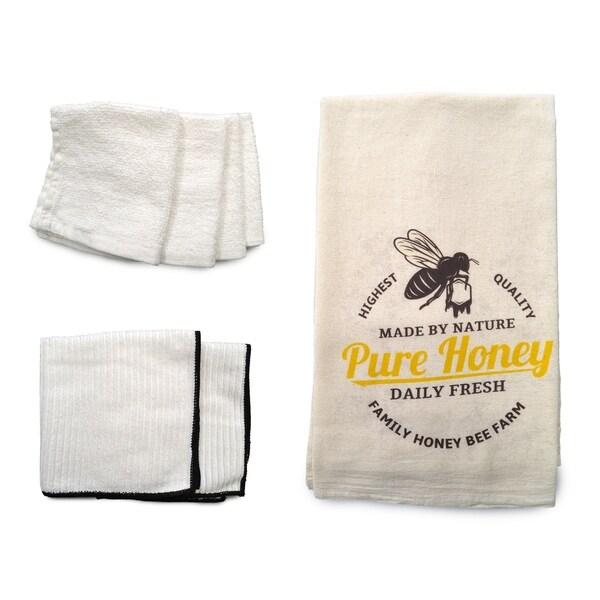 """Pure Honey"" 7-piece Dish Towel Set"