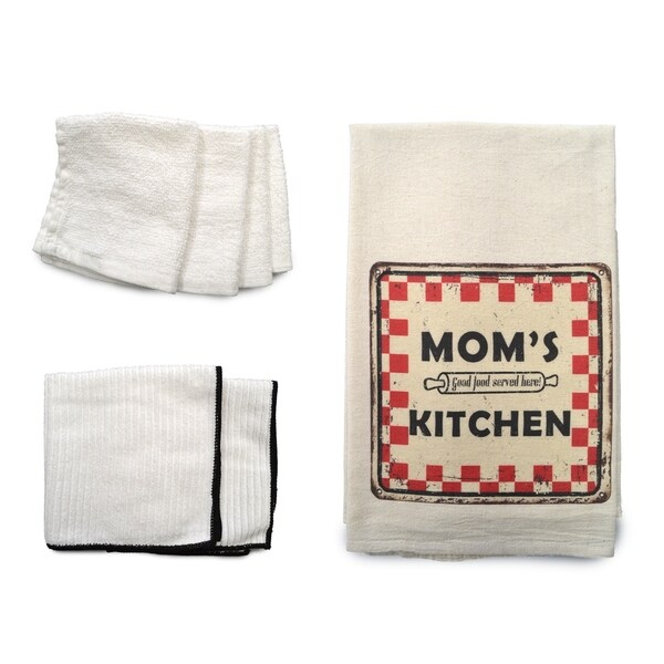 """Mom's Kitchen"" 7-piece Dish Towel Set"