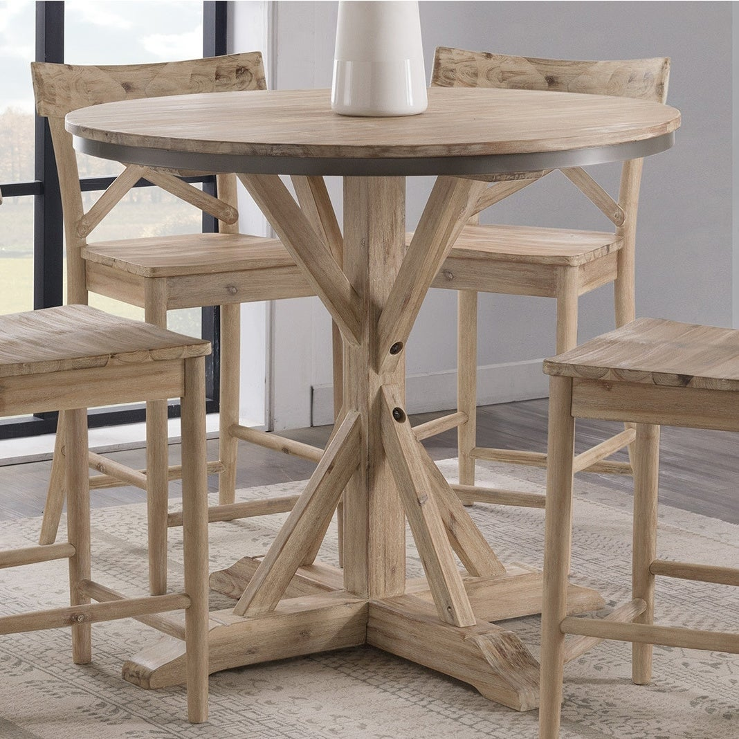 Shop Black Friday Deals On The Gray Barn Whistle Stop Round Counter Height Dining Table Overstock 29146603