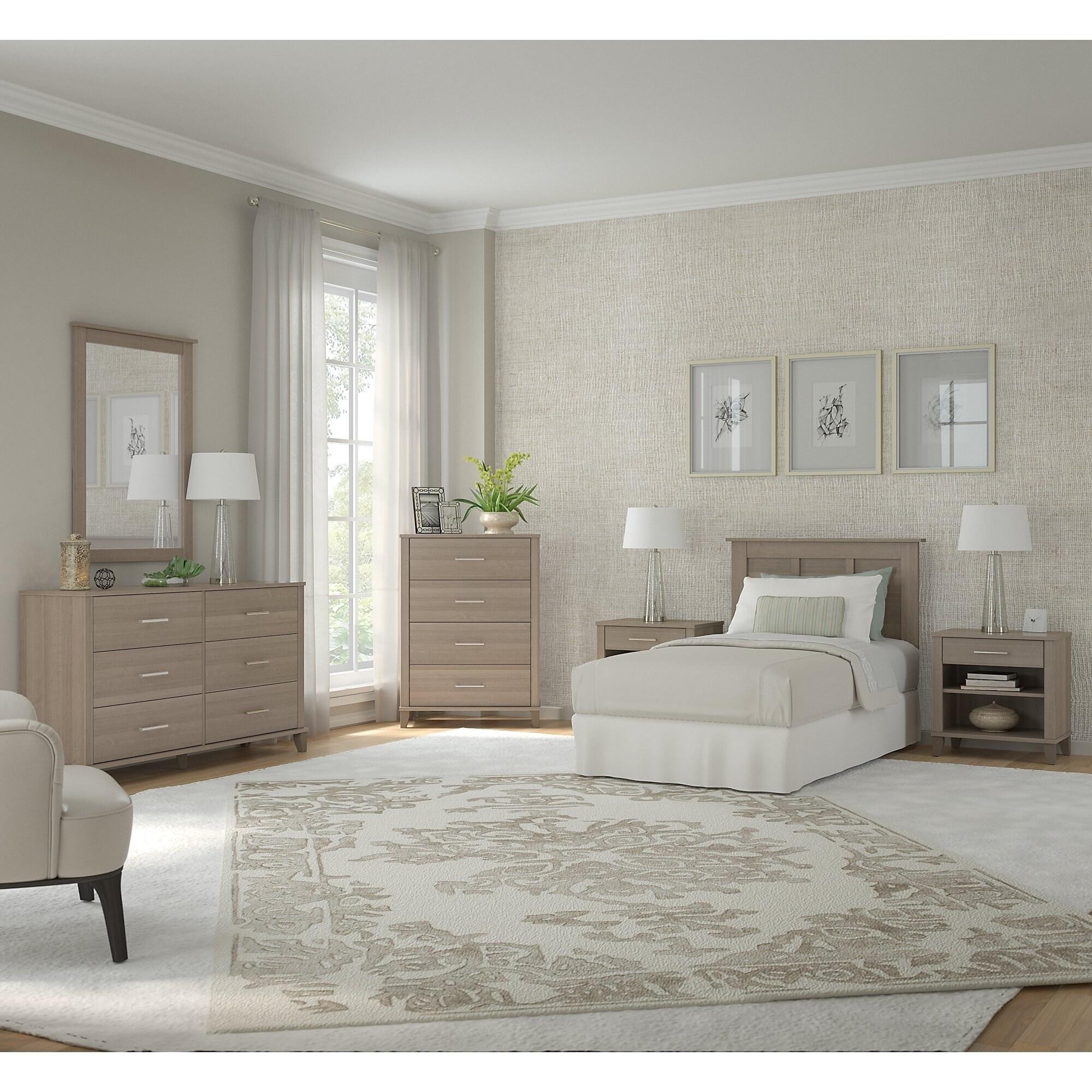 gray twin bedroom set