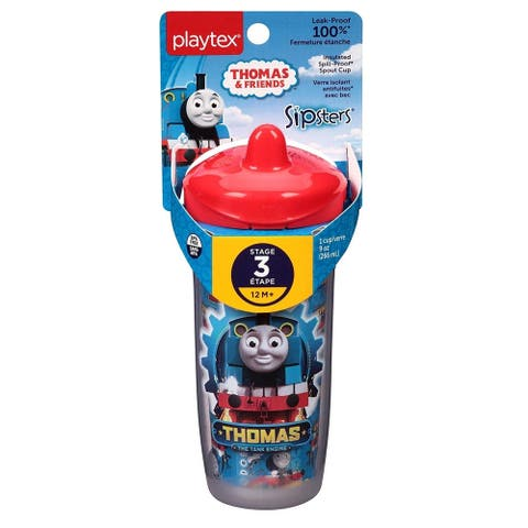 Playtex Sipsters Stage 3 Thomas the Train Spill-Proof Spout Sippy Cups, 9 Oz