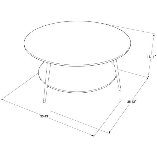 Carson Carrington Batkroken Round 2-tier Coffee Table