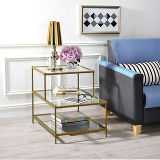 Silver Orchid Adoree Two-tier End Table