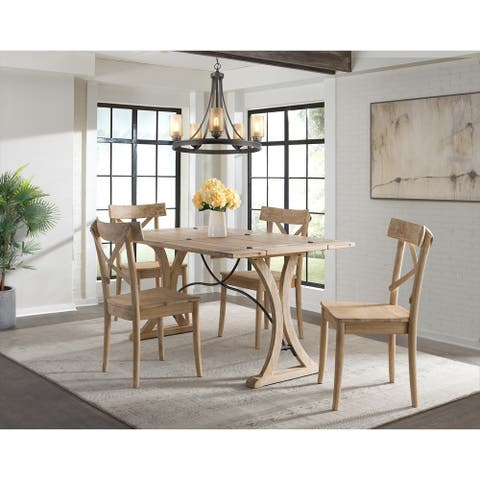 The Gray Barn Whistle Stop Folding Top 5-piece Dining Set-Table and Four Chairs
