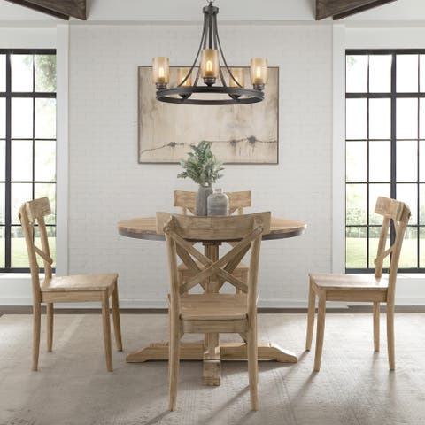 The Gray Barn Whistle Stop Round Standard Height 5-piece Dining Set-Table and Four Chairs