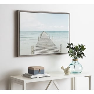 Link to Kate and Laurel Sylvie Wooden Pier Framed Canvas by Amy Peterson Similar Items in Canvas Art