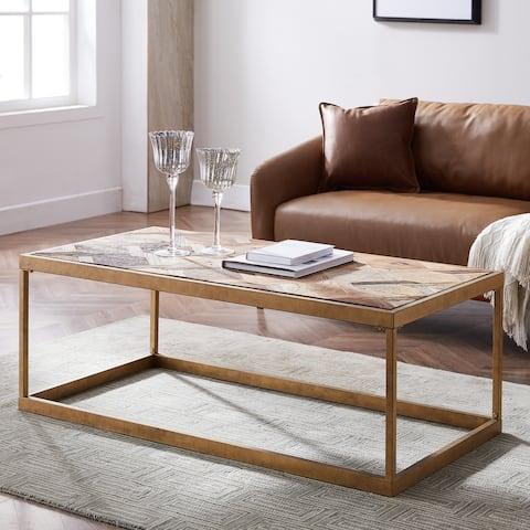Carbon Loft Darren Reclaimed Wood Rectangle Cocktail Table