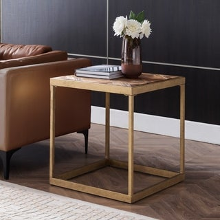 Carbon Loft Darren Reclaimed Wood Square End Table