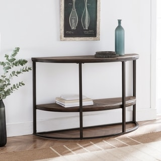Carbon Loft Langford Reclaimed Wood Industrial Console Table
