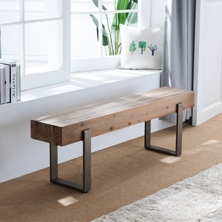 Link to Carbon Loft Dunlap Industrial Reclaimed Wood Bench Similar Items in Kitchen & Dining Room Chairs