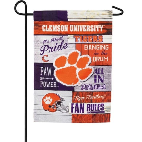 NCAA 12.5-inch x 18-inch Fan Rules Linen Garden Flag