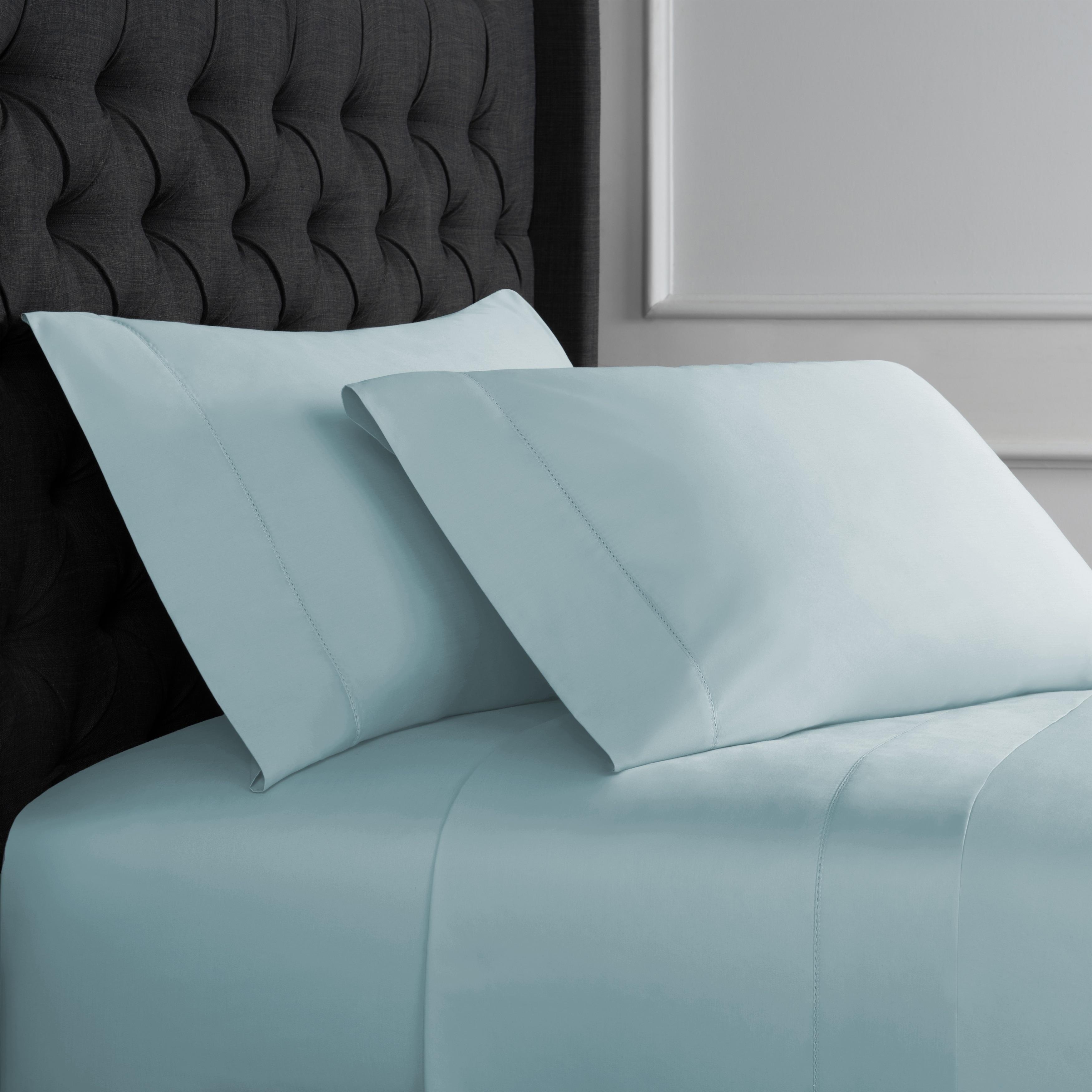 Gorgeous Bedding Select Item /& High Deep Pocket 1000 TC US Size Aqua Blue Solid