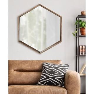 Kate and Laurel Hutton Hexagon Mirror - 29.5x33.5
