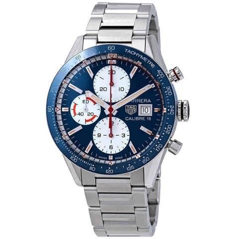 Tag Heuer Men's CV201AR.BA0715 'Carrera' Chronograph Stainless Steel Watch