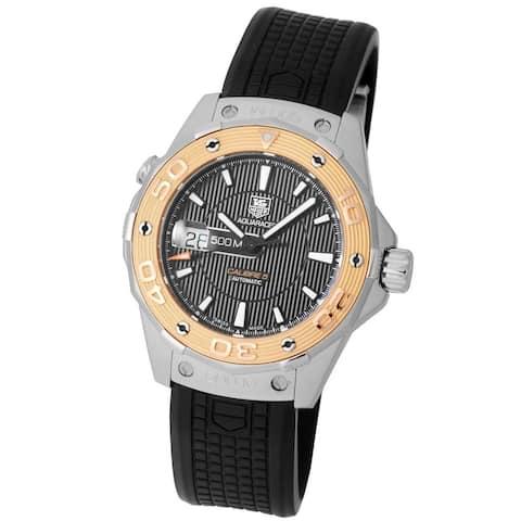 Tag Heuer Men's WAJ2150.FT6015 'Aquaracer' Black Rubber Watch