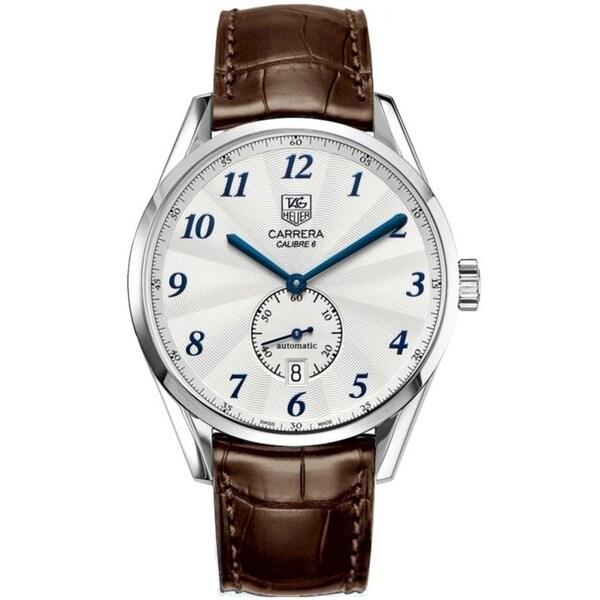 Tag Heuer Men's WAS2111.FC6181 'Carrera Heritage' Brown Leather Watch. Opens flyout.