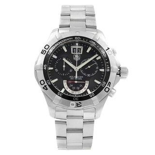 Link to Tag Heuer Men's CAF101A.BA0821 'Aquaracer' Chronograph Stainless Steel Watch Similar Items in Men's Watches