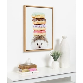 Link to DesignOvation Syvlie Hedgehog Donuts Framed Canvas by Amy Peterson Similar Items in Canvas Art