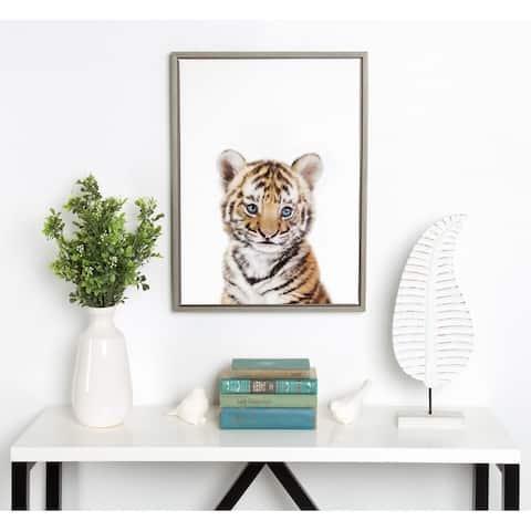 Porch & Den Amy Peterson 'Baby Tiger' Framed Canvas