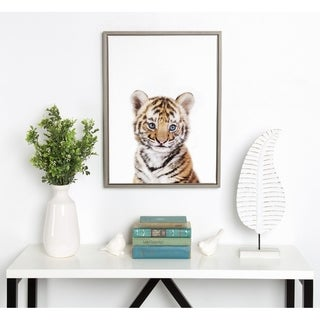 Link to Porch & Den Amy Peterson 'Baby Tiger' Framed Canvas Similar Items in Canvas Art